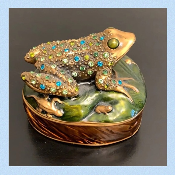 Rare BEREBI Jeweled Tree Frog Trinket Box